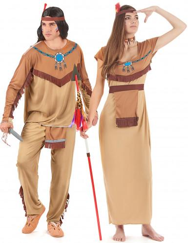 Disfarce de casal índios adulto