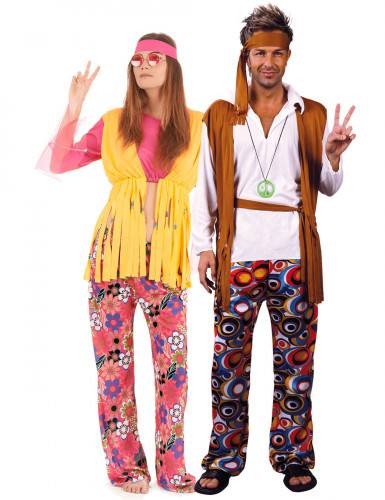 Disfarce casal de Hippies