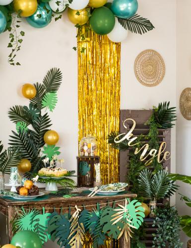 Cortina cintilante dourada-1