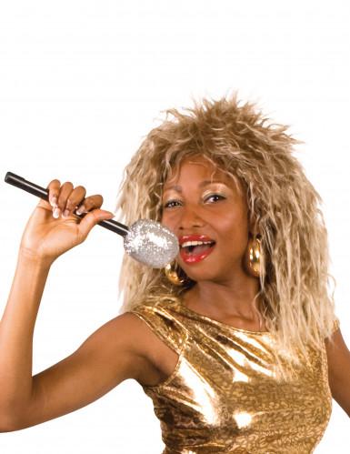 Peruca cantora rock famosa mulher