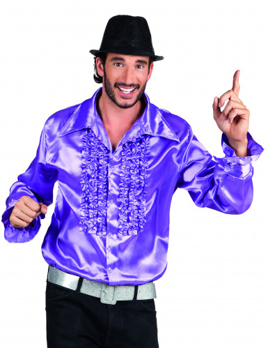 Disfarce disco violeta homem