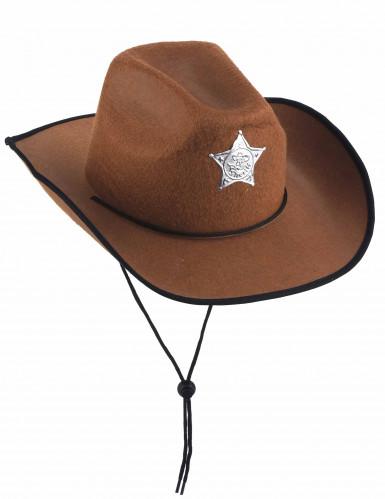Chapéu de xerife castanho
