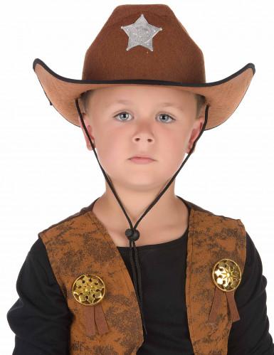 Chapéu de xerife castanho-1