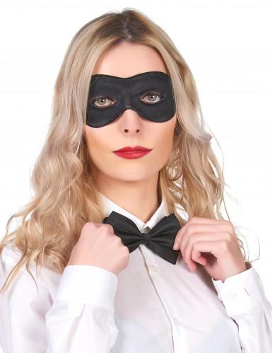 Máscara preta de tecido e plástico adulto