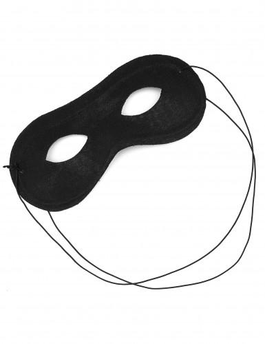 Máscara preta de tecido e plástico adulto-1