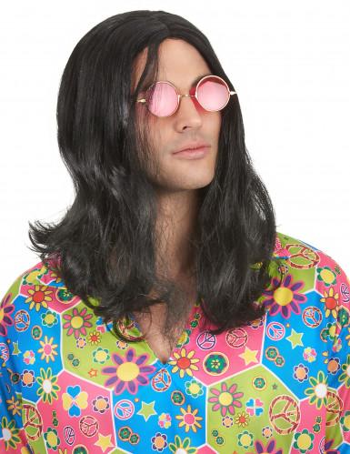 Peruca de hippie para homem