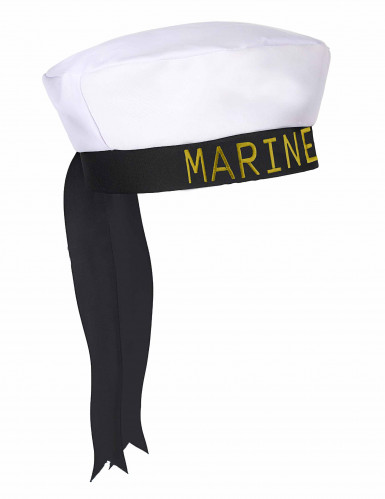 Chapéu marinheiro fita preta adulto