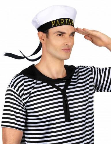 Chapéu marinheiro fita preta adulto-1