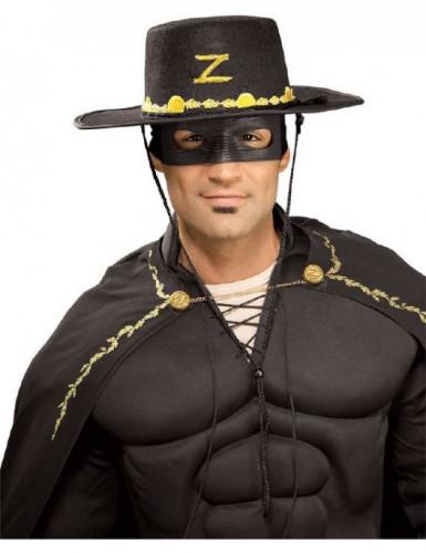 Chapéu e máscara Zorro™ adulto