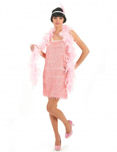 Disfarce anos 20 cor-de-rosa charleston mulher