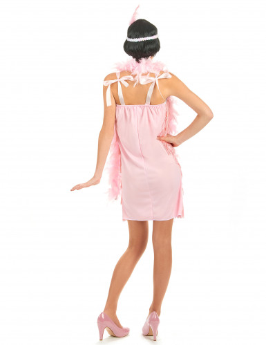 Disfarce anos 20 cor-de-rosa charleston mulher-2