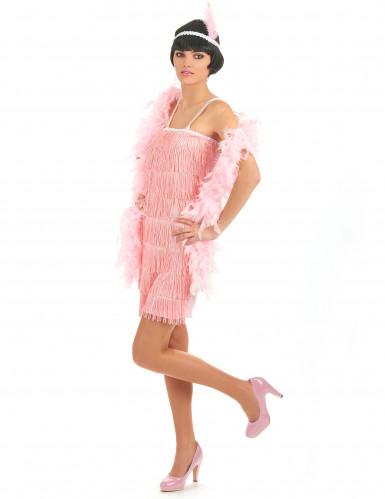 Disfarce anos 20 cor-de-rosa charleston mulher-1