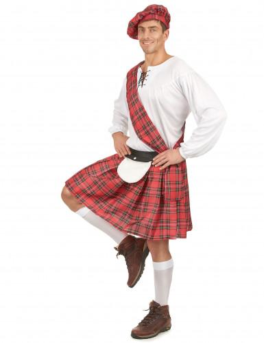 Disfarce escocês homem vermelho e branco-1
