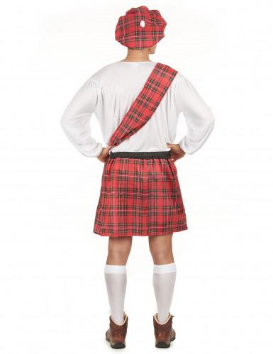 Disfarce escocês homem vermelho e branco-2