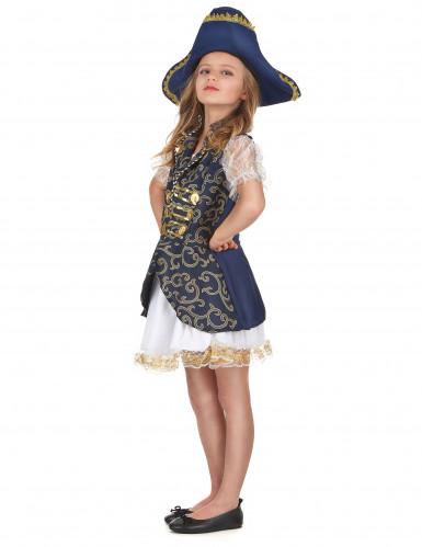 Fantasia de pirata para rapariga azul-1