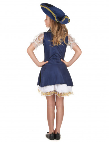Fantasia de pirata para rapariga azul-2