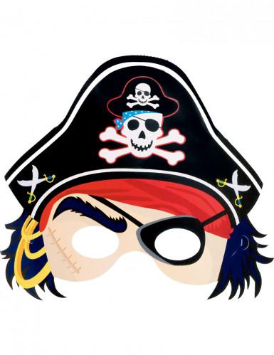 Máscara em cartão de pirata criança