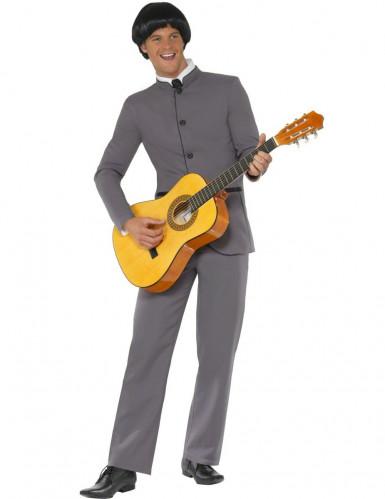 Disfarce anos 50 de guitarrista para homem