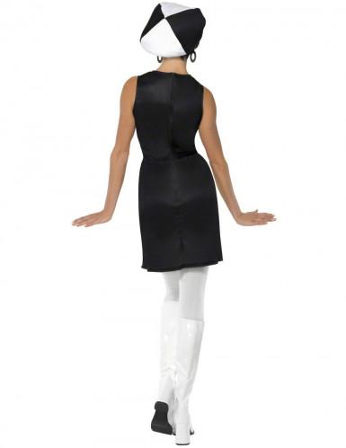 Disfarce branco disco para mulher-1