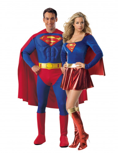Disfarce de casal Superman e Supergirl™