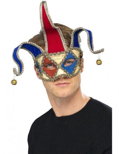 Máscara de bobo arlequim veneziano adulto
