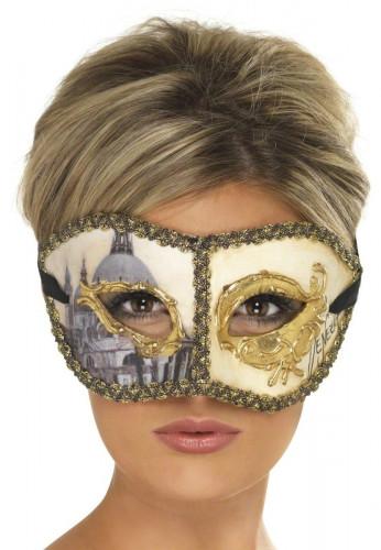 Máscara veneziana de Colombina adulto
