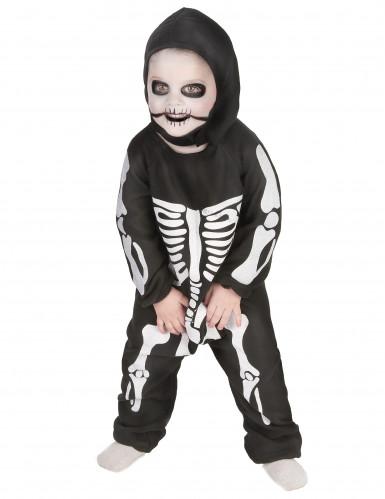 Disfarce esqueleto rapaz Halloween-1