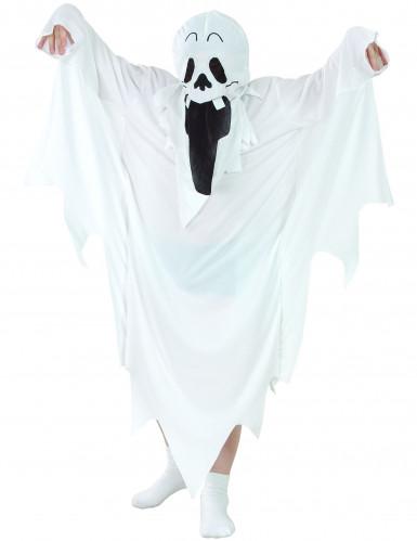 Disfarce fantasma Halloween criança