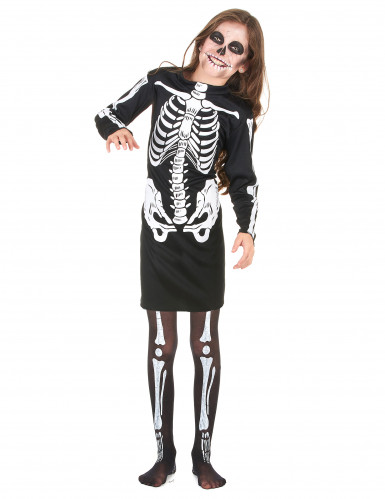 Disfarce esqueleto menina Halloween