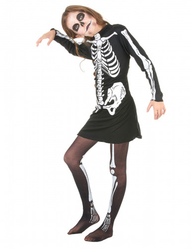 Disfarce esqueleto menina Halloween-1