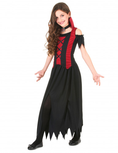 Disfarce vampiro menina Halloween-1