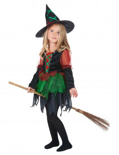 Disfarce bruxa do bosque rapariga Halloween-1