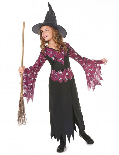 Disfarce bruxa menina Halloween-1