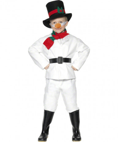 Disfarce de boneco de neve criança Natal