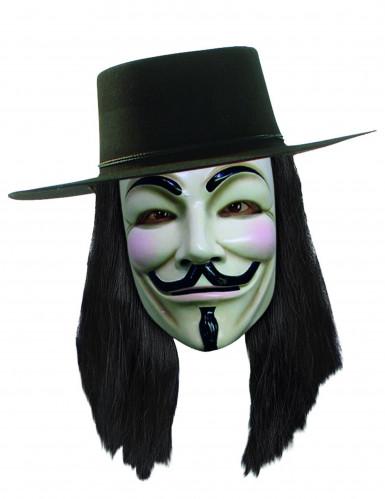 Peruca V para Vendetta™ adulto