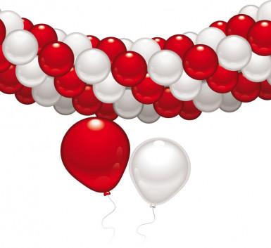 Kit de decoração vermelha e branca