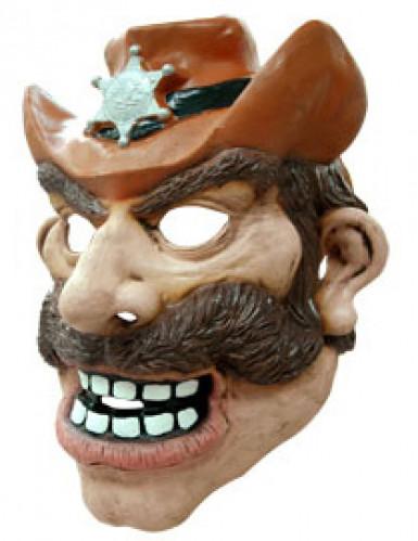 Máscara cowboy adulto-1
