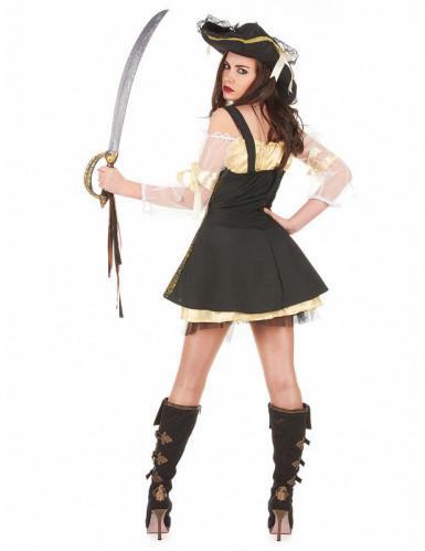 Disfarce de pirata amarelo para mulher-1