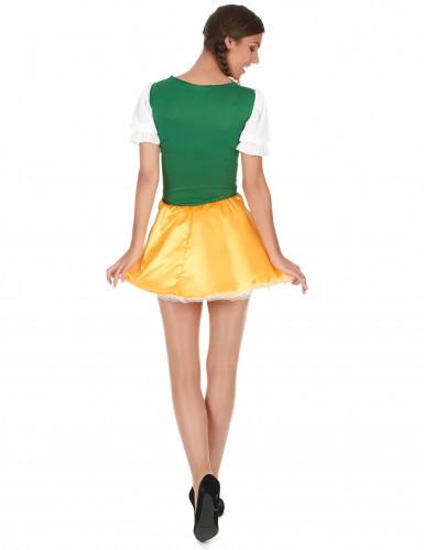 Disfarce de bávara para mulher amarelo e verde-1
