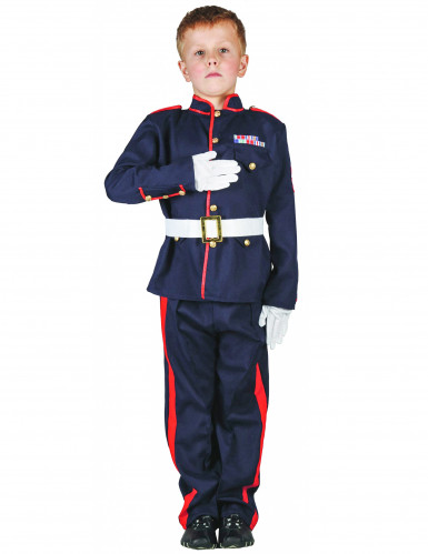 Disfarce soldado criança