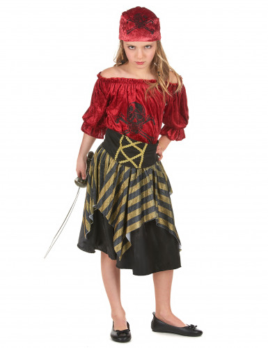 Fantasia de pirata para rapariga
