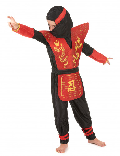 Disfarce de ninja menino dragões-1