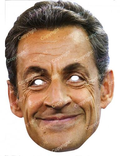 Máscara de cartão Nicolas Sarkozy