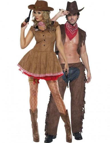 Disfarce de casal cowgirl e cowboy