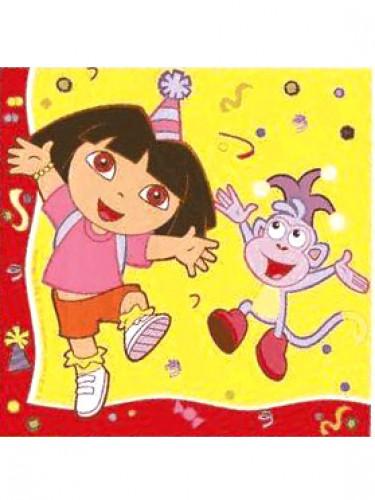 20 Guardanapos de papel Dora a Exploradora™