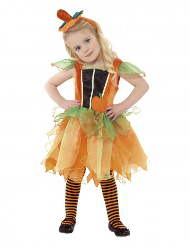 Disfarce abóbora menina Halloween