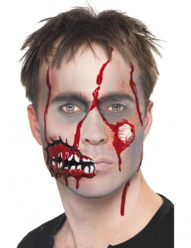Kit maquilhagem zombie adulto Halloween-3