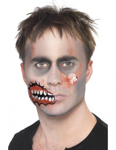Kit maquilhagem zombie adulto Halloween-2