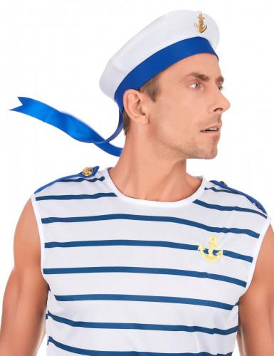 Chapéu marinheiro adulto com âncora-2