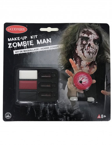 Kit maquilhagem zombie adulto para Halloween-2